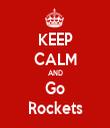 KEEP CALM AND Go Rockets - Personalised Tea Towel: Premium