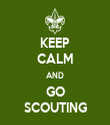 KEEP CALM AND GO SCOUTING - Personalised Tea Towel: Premium