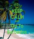 KEEP CALM AND Go To Barbados - Personalised Tea Towel: Premium