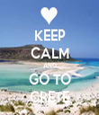 KEEP CALM AND GO TO CRETE - Personalised Tea Towel: Premium