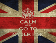 KEEP CALM AND GO TO CYBER FISK - Personalised Tea Towel: Premium