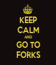 KEEP CALM AND GO TO FORKS - Personalised Tea Towel: Premium
