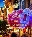 KEEP CALM AND GO TO INFINITY AND BEYOND - Personalised Tea Towel: Premium