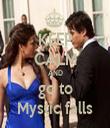 KEEP CALM AND go to Mystic falls - Personalised Tea Towel: Premium