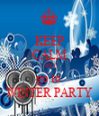 KEEP CALM AND go to  WINTER PARTY - Personalised Tea Towel: Premium