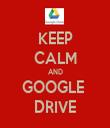 KEEP CALM AND GOOGLE  DRIVE - Personalised Tea Towel: Premium