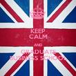 KEEP CALM AND GRADUATE BUSINESS SCHOOL - Personalised Tea Towel: Premium