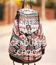 KEEP CALM AND GRADUATE SCHOOL  - Personalised Tea Towel: Premium