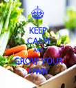 KEEP CALM AND GROW YOUR OWN - Personalised Tea Towel: Premium