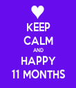 KEEP CALM AND HAPPY 11 MONTHS - Personalised Tea Towel: Premium