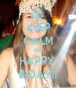 KEEP CALM AND HAPPY  B-DAY!! - Personalised Tea Towel: Premium