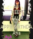 KEEP CALM AND HAPPY BIRTHDAY Aya - Personalised Tea Towel: Premium