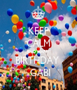 KEEP CALM AND HAPPY BIRTHDAY   GABI - Personalised Tea Towel: Premium