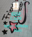 KEEP CALM AND  happy birthday     Mary - Personalised Tea Towel: Premium