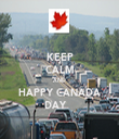 KEEP CALM AND HAPPY CANADA DAY    - Personalised Tea Towel: Premium