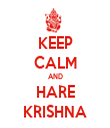 KEEP CALM AND HARE KRISHNA - Personalised Tea Towel: Premium
