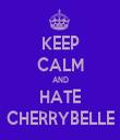 KEEP CALM AND HATE CHERRYBELLE - Personalised Tea Towel: Premium