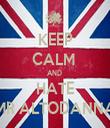 KEEP CALM  AND  HATE MR ALTODANNA - Personalised Tea Towel: Premium