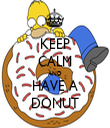 KEEP CALM AND HAVE A DONUT - Personalised Tea Towel: Premium