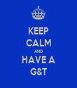 KEEP CALM AND HAVE A G&T - Personalised Tea Towel: Premium