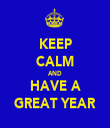 KEEP CALM AND HAVE A GREAT YEAR - Personalised Tea Towel: Premium