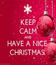 KEEP CALM AND HAVE A NICE  CHRISTMAS  - Personalised Tea Towel: Premium