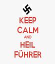 KEEP CALM AND HEIL FÜHRER - Personalised Tea Towel: Premium