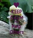 KEEP CALM AND Help Others - Personalised Tea Towel: Premium