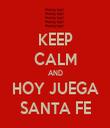 KEEP CALM AND HOY JUEGA SANTA FE - Personalised Tea Towel: Premium