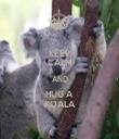 KEEP CALM AND HUG A KOALA - Personalised Tea Towel: Premium
