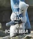 KEEP CALM AND HUG A POLAR BEAR - Personalised Tea Towel: Premium