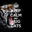 KEEP CALM AND HUG CATS - Personalised Tea Towel: Premium