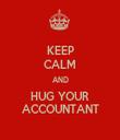 KEEP CALM AND HUG YOUR ACCOUNTANT - Personalised Tea Towel: Premium