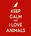 KEEP CALM AND I LOVE ANIMALS - Personalised Tea Towel: Premium