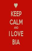 KEEP CALM AND I LOVE BIA - Personalised Tea Towel: Premium