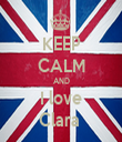 KEEP CALM AND I love Clara  - Personalised Tea Towel: Premium