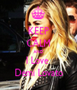 KEEP CALM AND I Love  Demi Lovato - Personalised Tea Towel: Premium