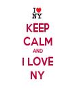 KEEP CALM AND I LOVE NY - Personalised Tea Towel: Premium