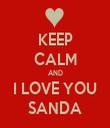 KEEP CALM AND I LOVE YOU SANDA - Personalised Tea Towel: Premium