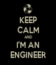KEEP CALM AND I'M AN ENGINEER - Personalised Tea Towel: Premium
