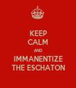 KEEP CALM AND IMMANENTIZE THE ESCHATON - Personalised Tea Towel: Premium