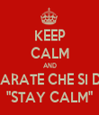 """KEEP CALM AND IMPARATE CHE SI DICE """"STAY CALM"""" - Personalised Tea Towel: Premium"""