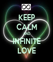 KEEP CALM AND INFINITE LOVE - Personalised Tea Towel: Premium