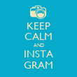 KEEP CALM AND INSTA GRAM - Personalised Tea Towel: Premium