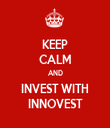 KEEP CALM AND INVEST WITH INNOVEST - Personalised Tea Towel: Premium