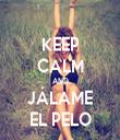 KEEP CALM AND JÁLAME EL PELO - Personalised Tea Towel: Premium