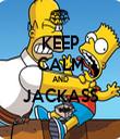 KEEP CALM AND JACKASS  - Personalised Tea Towel: Premium