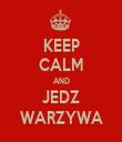 KEEP CALM AND JEDZ WARZYWA - Personalised Tea Towel: Premium