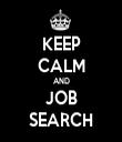 KEEP CALM AND JOB SEARCH - Personalised Tea Towel: Premium