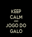 KEEP CALM AND JOGO DO GALO - Personalised Tea Towel: Premium